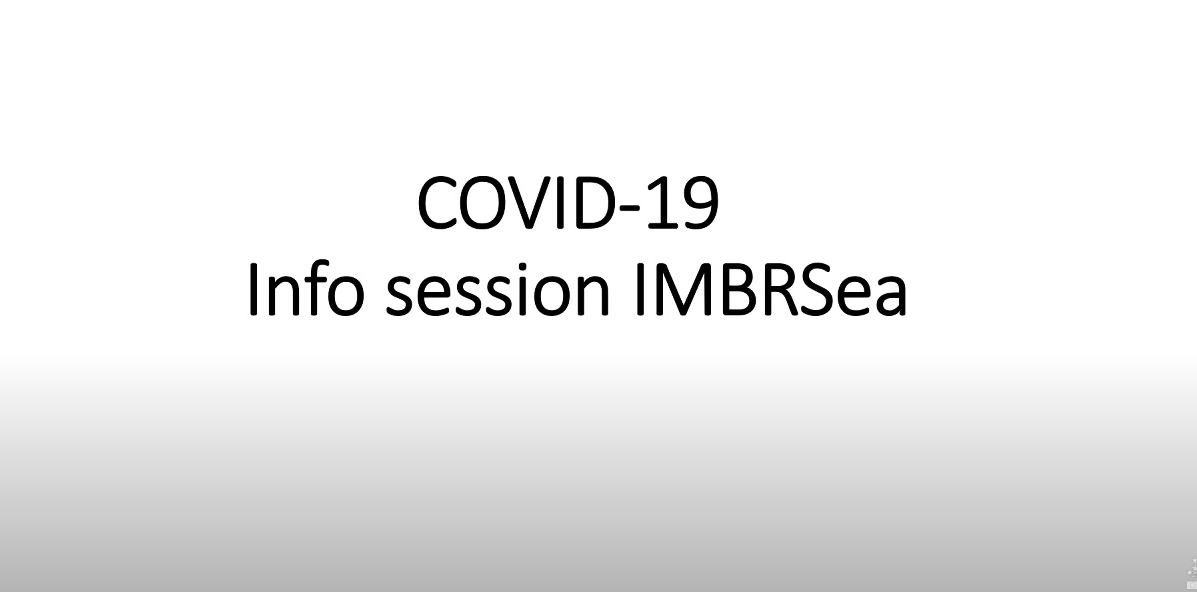 IMBRSea Webinar Covid-19 Info session