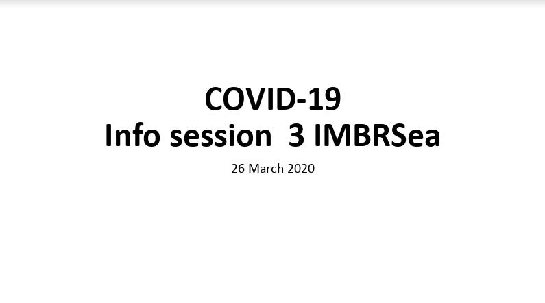 IMBRSea Covid19 - Webinar 3