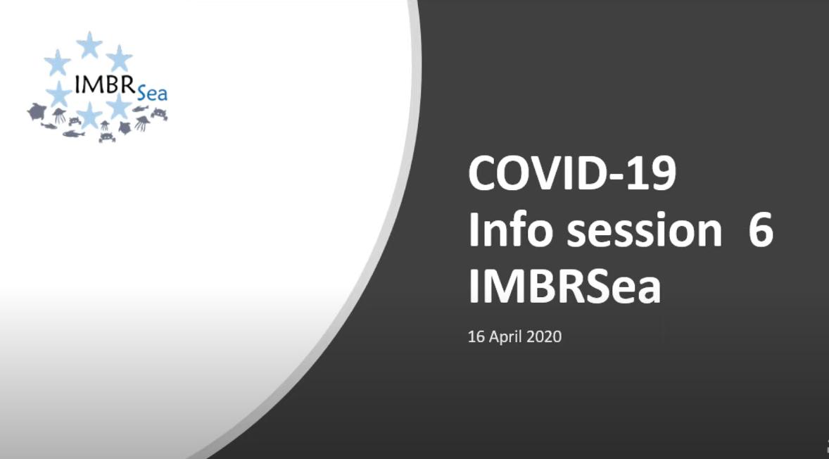 IMBRSea COVID19 - Webinar 6